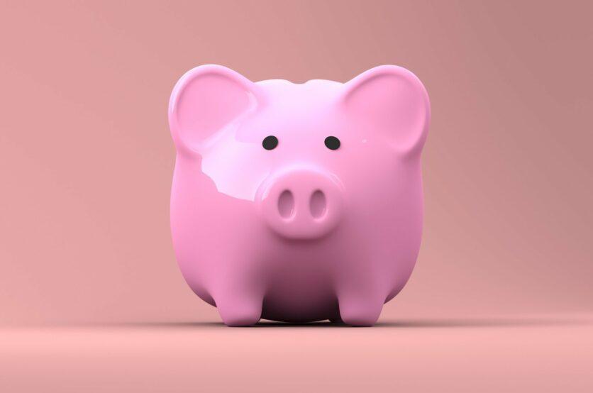 Tirelire en forme de cochon